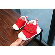 女の子 靴 レザーレット 冬 秋 赤ちゃん用靴 ブーツ ブーティー/アンクルブーツ のために カジュアル ダークブルー レッド ピンク