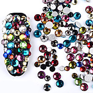 700 nail art dekorace drahokamu perly make-up kosmetické nehty umění design