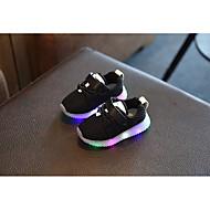 Meisjes Schoenen Tule Lente Herfst Oplichtende schoenen Platte schoenen Voor Causaal Wit Zwart Roze