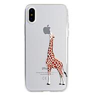 billiga Mobil cases & Skärmskydd-fodral Till Apple iPhone X / iPhone 8 Plus Mönster Skal Leka med Apple-loggan / Tecknat Mjukt TPU för iPhone X / iPhone 8 Plus / iPhone 8