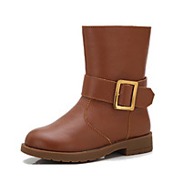 Boys' Shoes Cowhide Fall Winter Comfort Snow Boots Boots For Casual Brown Black