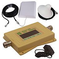 mini intelligent LCD-skjerm dcs980 1800mhz mobiltelefon signal booster repeater med utendørs panel antenne / innendørs tak antenne gul