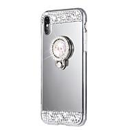 billiga Mobil cases & Skärmskydd-fodral Till Apple iPhone X / iPhone 8 Strass / med stativ Skal Enfärgad Hårt Akrylfiber för iPhone X / iPhone 8 Plus / iPhone 8