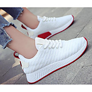 cheap Women's Sneakers-Women's Breathable Mesh / PU(Polyurethane) Spring / Fall Comfort Sneakers White / Black / Pink