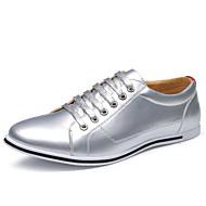 お買い得  メンズオックスフォードシューズ-男性用 靴 レザーレット 春 / 夏 コンフォートシューズ オックスフォードシューズ ゴールド / シルバー