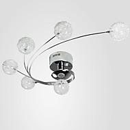 קערה מודרני / עכשווי קאנטרי מנורה כדורי צמודי תקרה עבור סלון חדר שינה חדר אוכל AC 220-240 AC 110-120V נורה כלולה