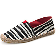 cheap Women's Slip-Ons & Loafers-Unisex Shoes Twill Spring Fall Mary Jane Espadrilles Loafers & Slip-Ons Flat Heel for Casual Dress Black