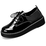 Women's Shoes Rubber Winter Comfort Oxfords Round Toe For Outdoor Black