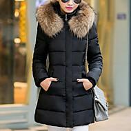 Dame Plusstørrelser I-byen-tøj Gade Vatteret - Ensfarvet