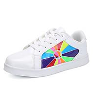tanie Obuwie dziewczęce-Dla dziewczynek Buty Materiał do wyboru Syntetyczny Jesień Świecące buty Zabawne Comfort Tenisówki Wzór zwierzęcy LED Haczyk i pętelka na