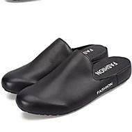 남성 구두 PU 봄 가을 모카신 조명 신발 플랫 워킹화 제품 캐쥬얼 화이트 블랙