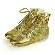 billige Jazz-sko-Barn Jazz Kunstlær Joggesko Hel såle Profesjonell Flat hæl Gull Sølv