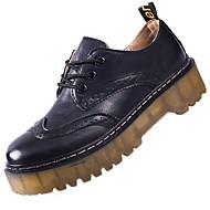 povoljno -Ženske Cipele Guma Zima Udobne cipele Oksfordice Kockasta potpetica Okrugli Toe Za Crn Žutomrk