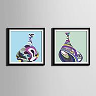 Still Life abstrakt fantasi Innrammet Lerret Innrammet Sett Veggkunst,PVC Materiale med ramme For Hjem Dekor Rammekunst Stue Kjøkken