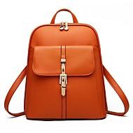 お買い得  バッグ-女性用 バッグ PU バックパック ボタン / パターン/プリント / ジッパー ライトパープル / スカイブルー / レッド