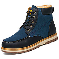 Men's Shoes PU Spring Fall Comfort Boots For Outdoor Blue Yellow Black