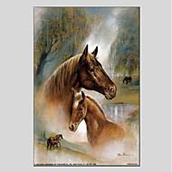 Ručno oslikana Životinja Životinje Jedna ploha Platno Hang oslikana uljanim bojama For Početna Dekoracija