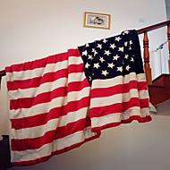 Superweich Flaggen Reine Baumwolle Decken