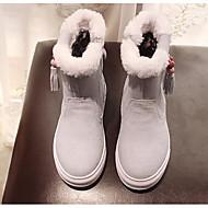 男の子 靴 レザー 冬 秋 コンフォートシューズ スノーブーツ ブーツ 用途 カジュアル ベージュ グレー