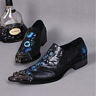 billige Lædersko-Herre Novelty Shoes Læder Forår / Sommer Vintage / Komfort / Kineseri Oxfords Sort / Bryllup / Fest / aften