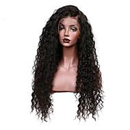 Žene Perike s ljudskom kosom Brazilska Remy Perika s prednjom čipkom bez ljepila 150% Gustoća S mldom kosom Kovrčav Perika Crna Kratko