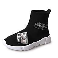 レディース 靴 PUレザー 冬 秋 ライト付きソール スニーカー ラウンドトウ 用途 スポーツ ブラック