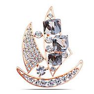 בגדי ריקוד נשים קריסטל תפס לשיער קריסטל יהלום מדומה ספינה נשים קלסי אופנתי סִכָּה תכשיטים זהב כסף עבור יומי רשמי