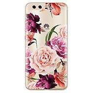 billiga Mobil cases & Skärmskydd-fodral Till huawei P9 / Huawei P9 Lite / Huawei P8 P10 Lite Mönster Skal Blomma Mjukt TPU för P10 Plus / P10 Lite / P10 / Huawei P9 Plus