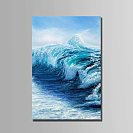 cheap Oil Paintings-Hand-Painted Landscape Vertical, Abstract Canvas Oil Painting Home Decoration One Panel