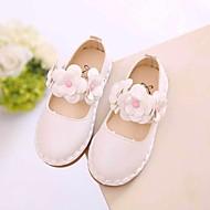 女の子 靴 PUレザー 春 秋 フラワーガールシューズ フラット のために カジュアル ホワイト レッド ピンク
