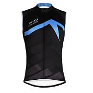 ILPALADINO Muškarci Bez rukávů Biciklistička majica - Crna / plava Bicikl Mellény Biciklistička majica, Quick dry