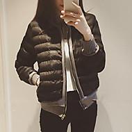 Dámské S vycpávkou Jednoduché Běžné/Denní Jednobarevné-Kabát Bavlna Jiné Bavlna Dlouhý rukáv