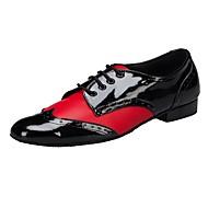 baratos Sapatilhas de Dança-Homens Sapatos de Swing Couro Envernizado Salto Sapatos de Dança Vermelh / Branco / Preto / Vermelho / Vermelho-Preto / Interior