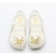 baratos Sapatos de Menina-Para Meninas Sapatos Pele PVC Outono / Inverno Conforto Sandálias para Preto / Prata / Rosa Claro
