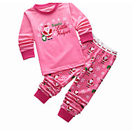 Djevojčice Uzorak Sleepwear, Pamuk Dugih rukava Crtići Blushing Pink