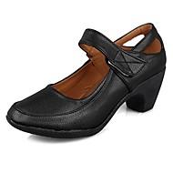 """billige Moderne sko-Dame Moderne Kunstlær TPU Høye hæler Trening Kubansk hæl Svart 2 """"- 2 3/4"""" 1 """"- 1 3/4"""" Kan spesialtilpasses"""