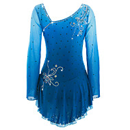 cheap -Figure Skating Dress Women's / Girls' Ice Skating Dress Azure Spandex High Elasticity Competition Skating Wear Handmade Ice Skating / Figure Skating