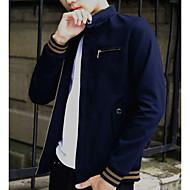男性用 週末 ジャケット-ストリートファッション ソリッド,コットン