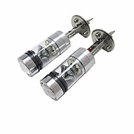 2pcs Leuchtbirnen 100W LED High Performance 20 Scheinwerfer For Ford Focus 2014 / 2013 / 2012