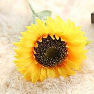 billige Kunstige blomster-1 Gren Polyester Solsikker Bordblomst Kunstige blomster