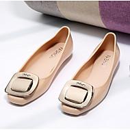 レディース 靴 ナパ革 春 秋 コンフォートシューズ フラット フラット のために カジュアル ブラック アーモンド