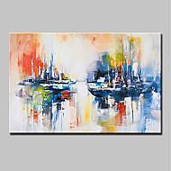 voordelige -Hang-geschilderd olieverfschilderij Handgeschilderde - Landschap Modern Kangas