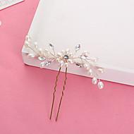 Perle finte / Strass Hair Stick / Perno di capelli con Con diamantini / Perle di imitazione 1pc Matrimonio Copricapo