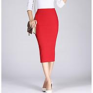Žene Bodycon Suknje - Jednobojni, S izrezom