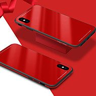 cheap -Case For Apple iPhone X iPhone 8 Shockproof Mirror Back Cover Solid Color Hard Tempered Glass for iPhone X iPhone 8 Plus iPhone 8 iPhone