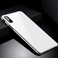 Etui Käyttötarkoitus Apple iPhone X iPhone 8 Iskunkestävä Takakuori Yhtenäinen väri Kova Karkaistu lasi varten iPhone X iPhone 8 Plus