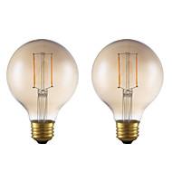tanie Więcej Kupujesz, Więcej Oszczędzasz-GMY® 2pcs 2W 180 lm E26 Żarówka dekoracyjna LED G25 2 Diody lED COB Przysłonięcia Dekoracyjna LED Light Ciepła biel AC 110-130V