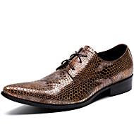 Χαμηλού Κόστους Αντρικά Oxford-Ανδρικά Τα επίσημα παπούτσια Νάπα Leather Άνοιξη / Φθινόπωρο Ανατομικό Oxfords Καφέ / Πάρτι & Βραδινή Έξοδος