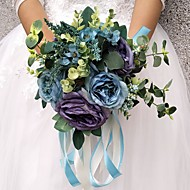 """cheap Wedding Flowers-Wedding Flowers Bouquets Wedding Party Evening Other Material Polyester 11.02""""(Approx.28cm) 11.8""""(Approx.30cm)"""