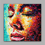 cheap Oil Paintings-Hand-Painted People SquareModern Canvas Oil Painting Home Decoration One Panel